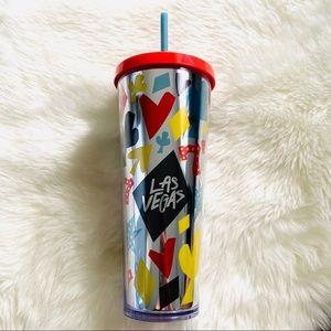 Starbucks🎰❤️🎲Las Vegas Tumbler Cold Cup 24oz NWT